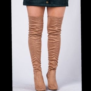 ❤Arrived❤taupe Over The Knee Boot